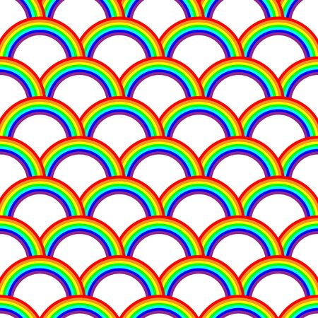 vector abstract seamless pride gay lesbian rainbow pattern on white background Ilustracja