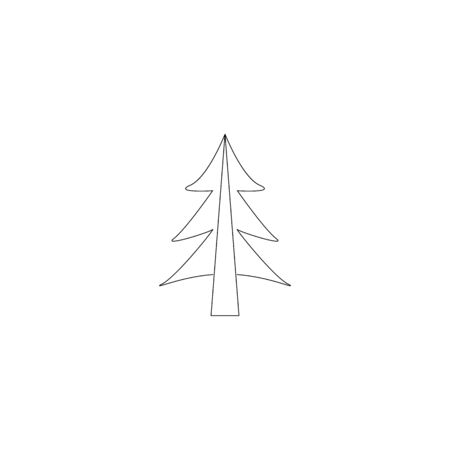 fir-tree sign . line vector icon isolated illustration 向量圖像