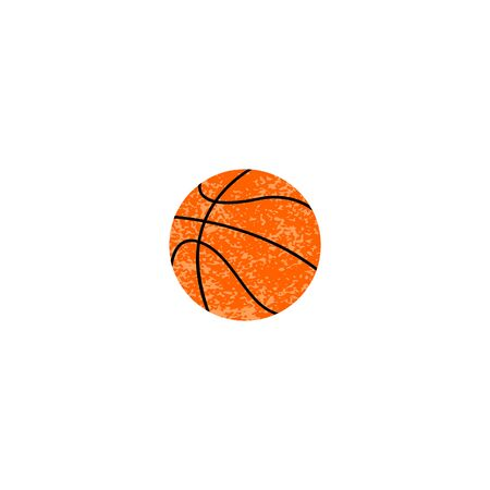 Basketball ball icon textured. vector illustration iolated on white Stock Photo