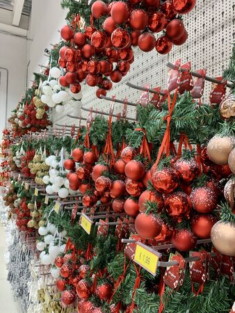 new years christmas decoration at shopping mall