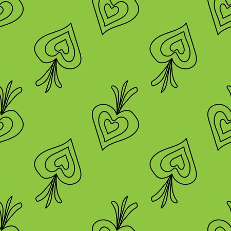 Seamless pattern with hand drawn black line doodle vegetables. Vector texture. Vegetarian healthy food. Vegan, farm, organic, natural background. onion or beetroot