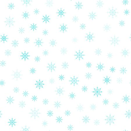 christmas pattern snowflake background blue on white background