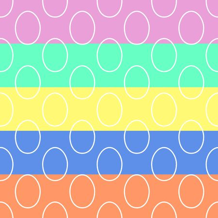 Scrapbook Design Elements: easter and spring concept with lineeggs seamless pattern .