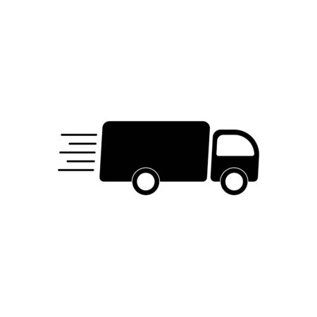 car delivery icon vector. shipping logo. Web flat icon. Delivery truck. on white background