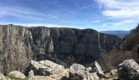 vikos canyon mountains and valley zagori, ioannina, greece