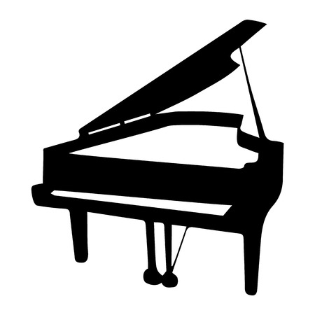 Piano Silhouette. Musical instrument on white background. Vector eps8