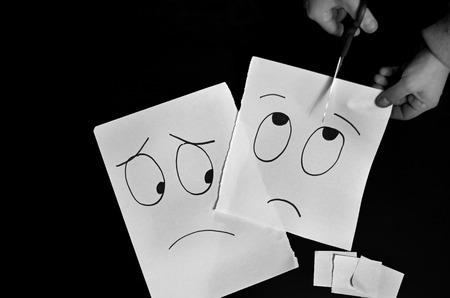 smilies: Smilies drawn on a paper Stock Photo
