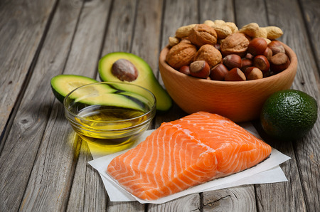 Selection of healthy fat sources.