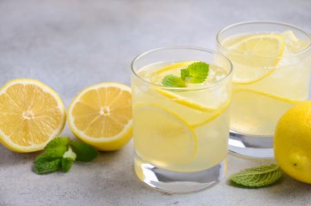 Lemon drop cocktail, selective focus
