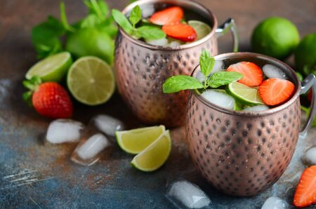 Moscow mule alcohol cocktail Stock Photo