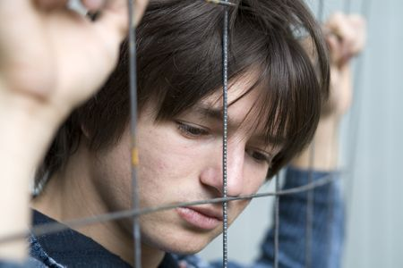 waiting convict: Teens problem Stock Photo