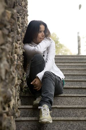 Girl alone, problems photo
