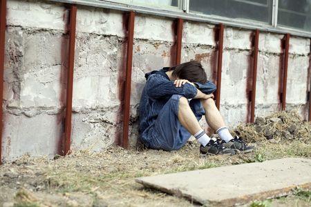drogadicto: Problemas de los adolescentes Foto de archivo