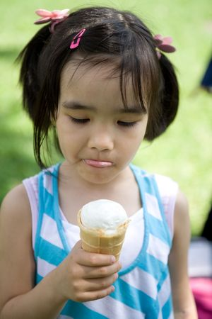 Girl with ice-cream photo