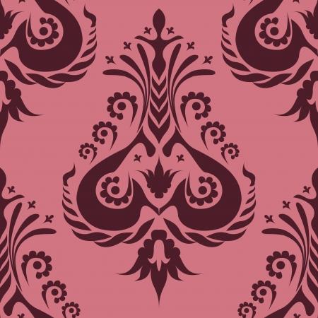 beautiful burgundy pattern on a pink background