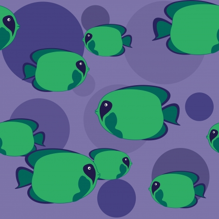 large group of animals: m�s peces verde nadando en mar azul