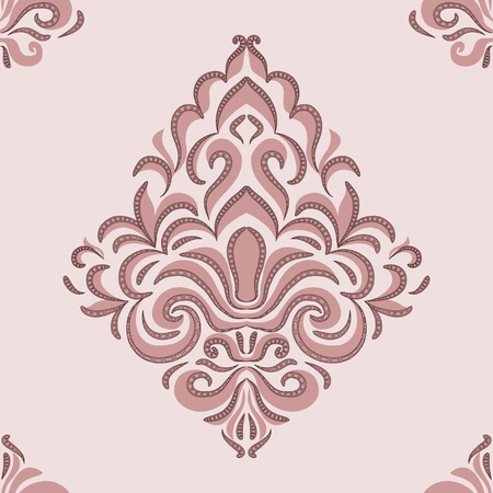 brocade: seamless pattern - patterns on a beige background