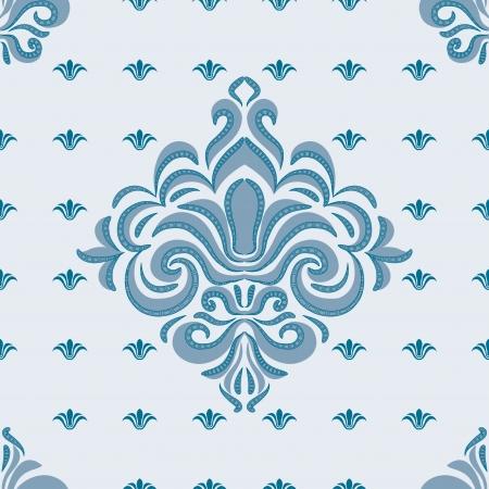 seamless pattern - patterns on a blue background