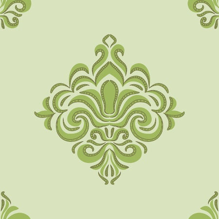 brocade: seamless pattern - patterns on a green background