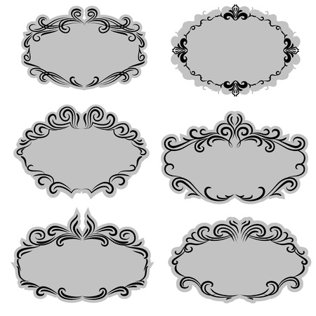 Set of ornate Vector