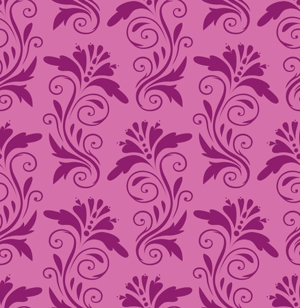 beautiful purple pattern on a pink background Stock Vector - 10550095