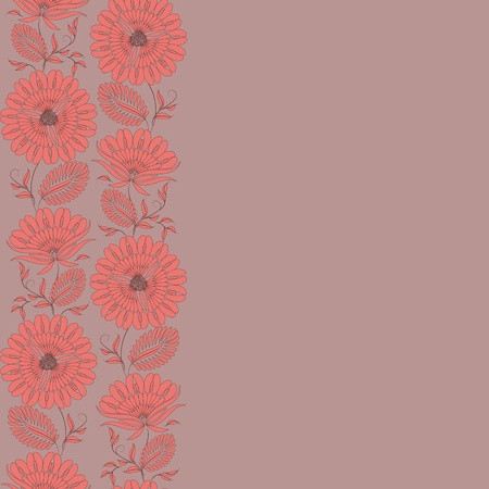 cute wallpaper: Flowers on a background. Floral design, in vintage style. Seamless pattern.
