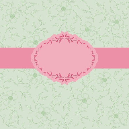 Template frame design for greeting card . Vector
