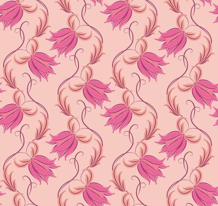 Blumen auf einem beige Hintergrund. Floral-Design, im Vintage-Look. Nahtlose Muster.