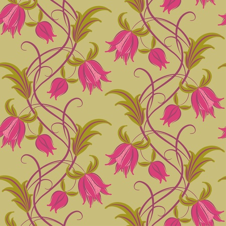 Seamless pattern. Floral design, in vintage style.