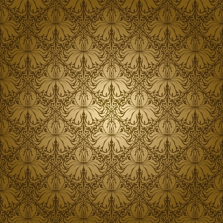 Seamless floral pattern. Yellow flowers on a green background. EPS 10