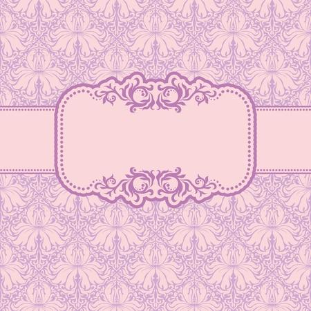Plantilla de diseño de marco para la tarjeta de felicitación. Antecedentes - sin patrón.