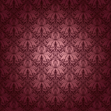 Seamless floral pattern. Rose flowers on a brown background. EPS 10 Stock Vector - 11384278