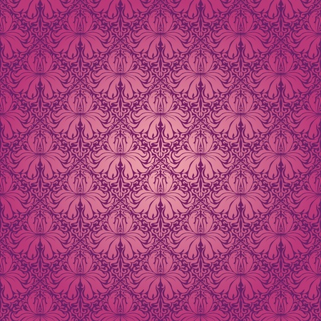 Seamless floral pattern. Beige flowers on a purple background. EPS 10 Vector