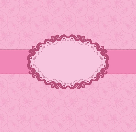 vinous: Template frame design for greeting card . Seamless background.