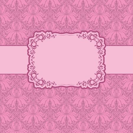lattice frame: Template frame design for greeting card . Illustration