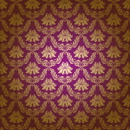 Seamless floral pattern. Flowers on a purple background. Vector
