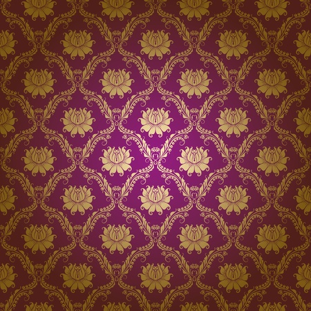Seamless floral pattern. Flowers on a purple background. EPS 10 Vector