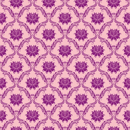 brocade: seamless floral damask pattern Illustration