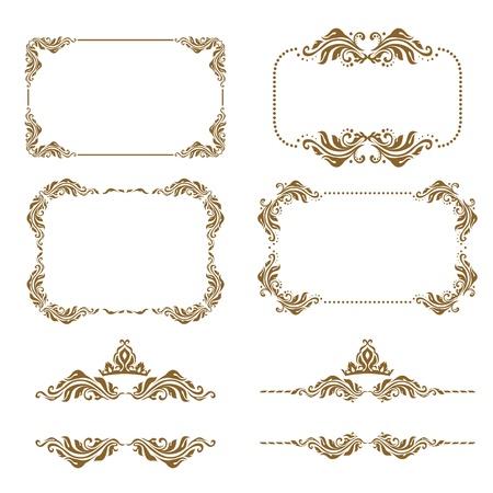 motive: Vector Reihe von dekorativen Elemente horizontal, Grenz-und Frame