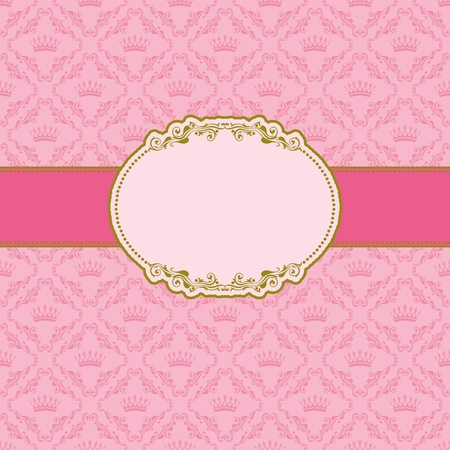 Sjabloon frame ontwerp voor wenskaart.
