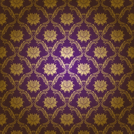 seamless damask floral pattern Vector