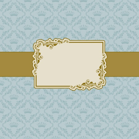 Template frame design for greeting card . Illustration