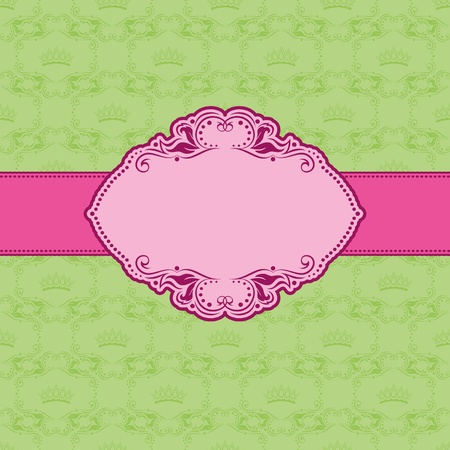 Template frame design for greeting card . Illustration