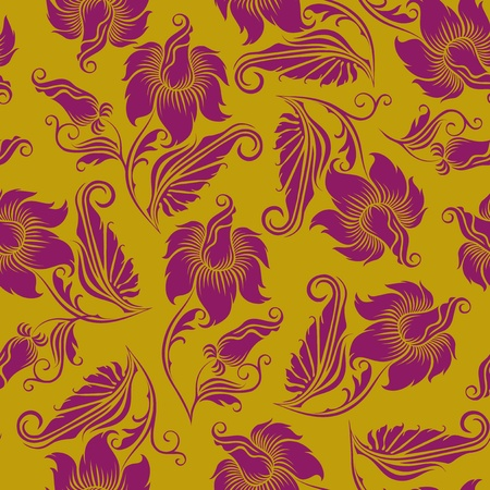 seamless floral pattern Stock Vector - 12488175