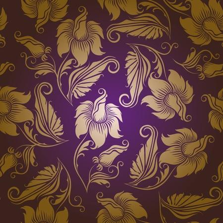 シームレスな花柄 写真素材 - 12488176