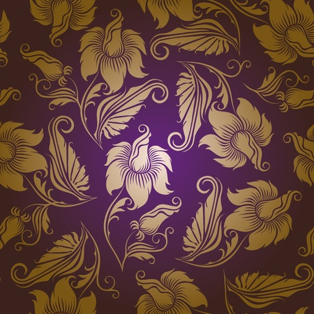 luxurious: seamless floral pattern