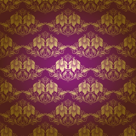 damask seamless floral pattern Stock Vector - 12498130