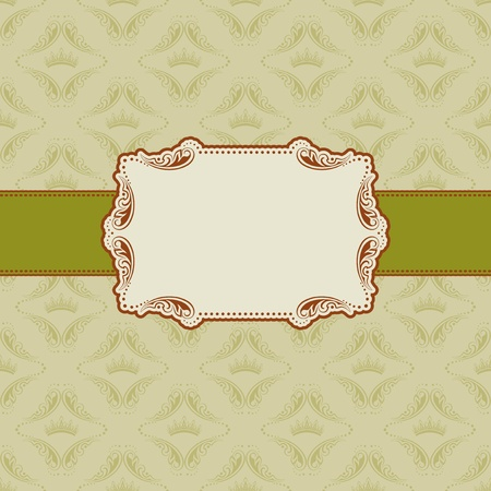 Template frame design for greeting card   Stock Vector - 12776611