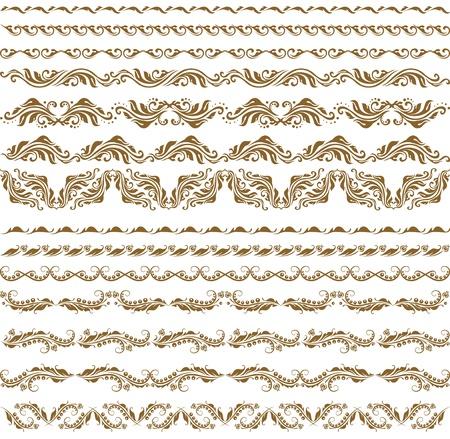 Horizontal elements decoration vector Stock Vector - 12776608