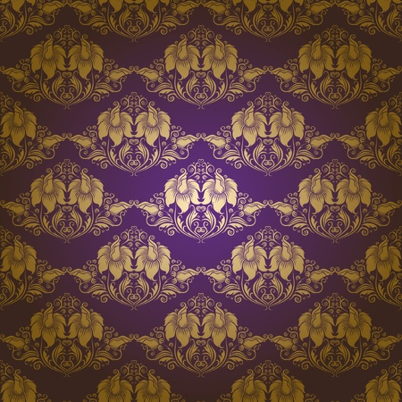 damask seamless floral pattern Stock Vector - 12776617
